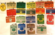 COLLECTION OF 20 MASTERS BADGES INCLUDING 1965. CONSECUTIVE YEARS 1967 - 1985
