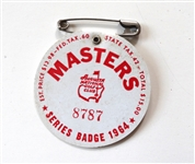 1964 MASTERS TOURNAMENT BADGE - ARNOLD PALMER WIN