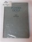 "BEN HOGAN SIGNED BOOK "" POWER GOLF"" - 1948"
