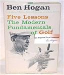 "BEN HOGAN SIGNED FIRST EDITION ""FIVE LESSONS"" - 1957 WITH DUST JACKET"