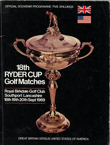 1969 Official Program of the 18th Ryder Cup Matches