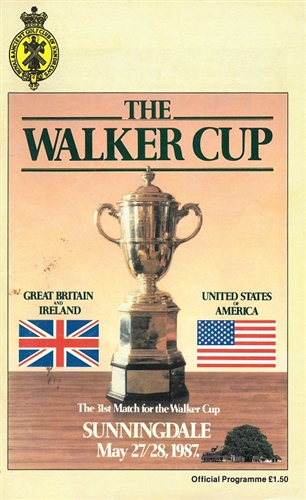 1987 Official Program from The Walker Cup Match