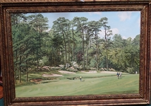 "ORIGINAL OIL PAINTING OF AUGUSTA NATIONAL GOLF CLUB 13TH HOLE BY LEGENDARY ARTHUR WEAVER, SIZE 20"" X 30"" FRAMED"