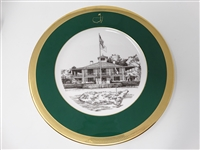 1997 AUGUSTA NATIONAL GC MEMBERS GIFT PLATE # 11. TIGER WOODS WON HIS FIRST MAJOR.