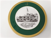 AUGUSTA NATIONAL GOLF CLUB MEMBERS GIFT PLATE #12 GIVEN IN 1997, TIGER WOODS WON HIS FIRST MAJOR