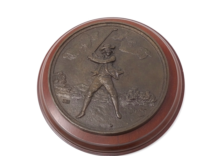 GOLFER MEDALLION CAST BY BENNO SCHOTZ- 1 OF 10