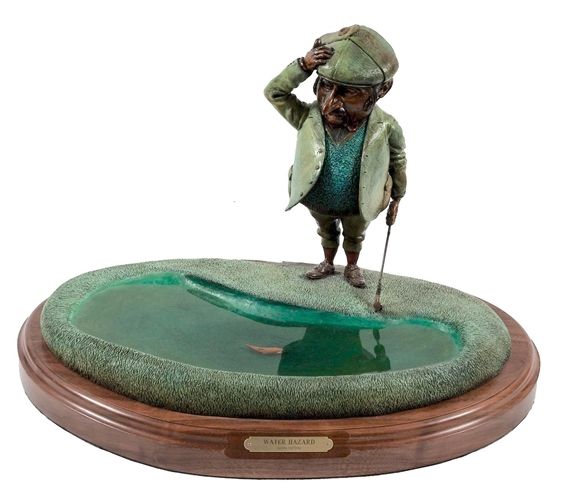 "DON HEDIN SCULPTURE ""WATER HAZARD"" LIMITED EDITION - WONDERFUL BRONZE SCULPTURE"