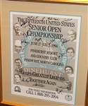 SIGNED POSTER 1994 FROM SENIOR OPEN HELD IN PINEHURST, SIGNED BY ARNOLD PALMER, JACK NICKLAUS, GARY PLAYER AND OTHERS