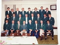 1980 OFFICIAL MASTERS DINNER IN AUGUSTA NATIONAL GOLF CLUB WITH WINNERS OF THE GREEN JACKET - SEVE BALLESTEROS WINNER
