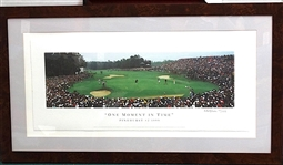 "PAYNE STEWART PHOTO OF HIS WINNING PUTT IN PINEHURST DURING 1999 U.S. OPEN ""ONE MOMENT IN TIME"" - SOLD OUT LTD. ED. PRINT"