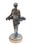 "LARGE BRONZE STATUE OF THE MILLENNIAL GOLFER, FROM THE USGA. 19"" HIGH"