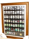 FRAMED UNCUT SHEET OF CARDS, CHAMPIONS OF GOLF THE MASTERS COLLECTION FROM 1934 TO 1995