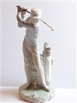 GOLFER PORCELAIN LLADRO FIGURINE CREATED IN 1972. HIGHT 10.75""
