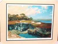 SIGNED ARTIST PROOF #3 OF ONLY 25, CYPRESS POINT PAPER GICLEE BY MICHAEL MILLER. FRAMED