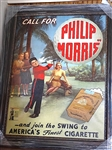 """CALL FOR PHILIP MORRIS"" CANVAS GICLEE OF PERIOD AD SIZE 36"" X 46"" FRAMED"