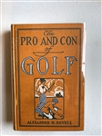 THE PRO AND CON OF GOLF BY ALEXANDER H. REVELL, 1915 SIGNED BY AUTHOR