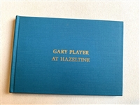 SIGNED BY GARY PLAYER BOOK AT HAZELTINE -  PUBLISHED 1970