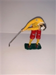 "ANTIQUE PAINTED METAL MECHANICAL GOLFER- 4.5"" TALL"