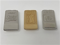 SET OF 3 BADGES/MONEY CLIPS, CAN BE ENGRAVED