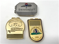 TOURNAMENT BADGES/MONEY CLIPS SET OF 3- CAN BE ENGRAVED