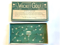1930s WICKET GOLF GAME BY NEVILLE C. SEYMOUR- 18 HOLES GAME