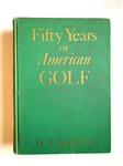 1936 SIGNED BOOK FIFTY YEARS OF AMERICAN GOLF BY H.B. MARTIN