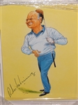 "ROBERTO DE VICENZO HAND SIGNED CARICATURE CREATED BY ARTIST JOHN IRELAND, FRAMED SIZE 11"" X 14"""