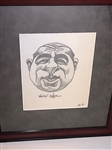 "ORIGINAL PENCIL DRAWINGS OF WALTER HAGEN CARICATURE, CIRCA 1931. SIZE 15 1/2"" X 18""- FRAMED"