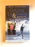 "SIGNED BY KEN VENTURI BOOK ""GETTING UP & DOWN"" MY 60 YEARS IN GOLF"