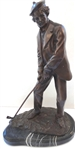 YOUNG TOM MORRIS BRONZE SCULPTURE WITH MARBLE BASE, 18: TALL