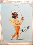"CALVIN PEETE AUTOGRAPHED CARICATURE CREATED BY ARTIST JOHN IRELAND, FRAMED SIZE 11"" X 14"""