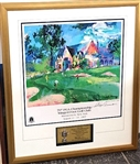 1997 SIGNED LEROY NEIMAN LITHOGRAPH PRESENTED TO DOUG FORD AT PGA CHAMPIONS DINNER AT WINGED FOOT CC
