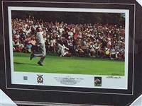 "1964 ""THE MASTERS"" COMMEMORATIVE ARNOLD PALMERS WIN CANVAS PRINT, SIGNED BY THE ARTIST"