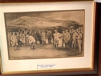 VINTAGE FRAMED ORIGINAL PHOTO OF 1904 AMATEUR CHAMPIONSHIP, LIFE ASSOCIATION OF SCOTLAND BY MICHAEL BROWN
