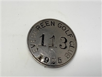 1925 BADGE FROM EVERGREEN GOLF CLUB, BADGE 3113