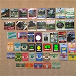 MASTERS BADGES COLLECTION OF 46 CONSECUTIVE YEARS FROM 1974-2019. ALL PINS ATTACHED.