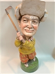 "RARE VINTAGE BOB HOPE GOLFING STATUE FROM EARLY 1960S. MEASURES 16"" HIGH. LTD. ED."