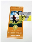PHIL MICKELSON SIGNED 2005 USGA OPEN CHAMPIONSHIP TICKET AT PINEHURST NO. 2