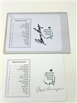 AUGUSTA NATIONAL GOLF CLUB SIGNED 2 SCORECARDS BY GARY PLAYER AND PAUL RUNYAN