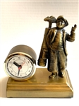 ANTIQUE GOLF ALARM CLOCK WITH SCULPTURE OF CADDY. ALL IN GOOD WORKING CONDITION