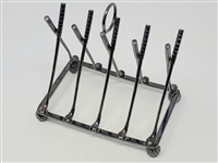 SILVER GOLF THEMED TOAST RACK OR LETTER HOLDER. MARKED STERLING FROM BIRMINGHAM ENGLAND