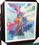 FRAMED LEROY NEIMAN SIGNED LITHOGRAPH OF STATUE OF LIBERTY