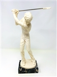 VINTAGE A. SANTINI GOLFER ON A MARBLE BASE, MADE IN ITALY- VINTAGE