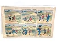 "1901 ORIGINAL COMIC STRIP ""FOXY GRANDPA AS A GOLFER"""