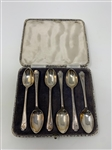 STERLING SILVER SET OF 6 SPOONS WITH CROSSED CLUBS IN ORIGINAL BOX