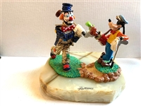 DISNEY RON LEE GOOFY & EMMETT THE CLOWN LE GOLFING FIGURINES FIGURE STATUE