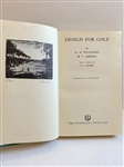 1952 FIRST EDITION BOOK DESIGN FOR GOLF BY H.N. WETHERED & T. SIMPSON