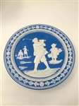"EARLY 1900S PLAQUE, 10"" D., PORCELAIN AS FEATURED ON PAGE #33 IN ""DECORATIVE GOLF COLLECTIBLES"" BY SHIRLEY & JERRY SPRUNG"