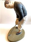 BOBBY JONES VINTAGE GOLF STATUE, CIRCA 1930S ATTIRE
