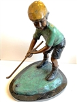 "YOUNG BOY GOLFING BY FRENCH ARTIST AUGUSTE MOREAU (1834-1917). MEASURING 13"" HIGH."